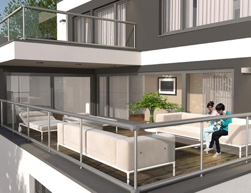 3D Terrassevisualisierungen Gaisbergstraße