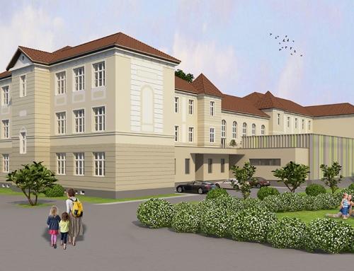 Architektur Rendering Volksschule
