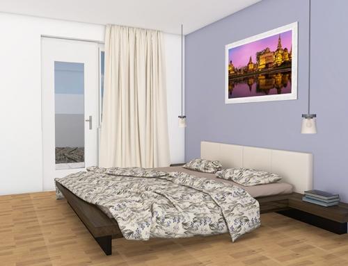 3D Innenraumvisualisierungen W-7 Schlafzimmer