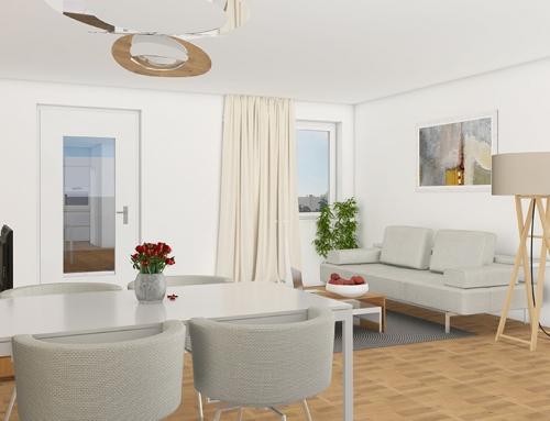 3D Innenraumvisualisierungen W-7 Wohnzimmer