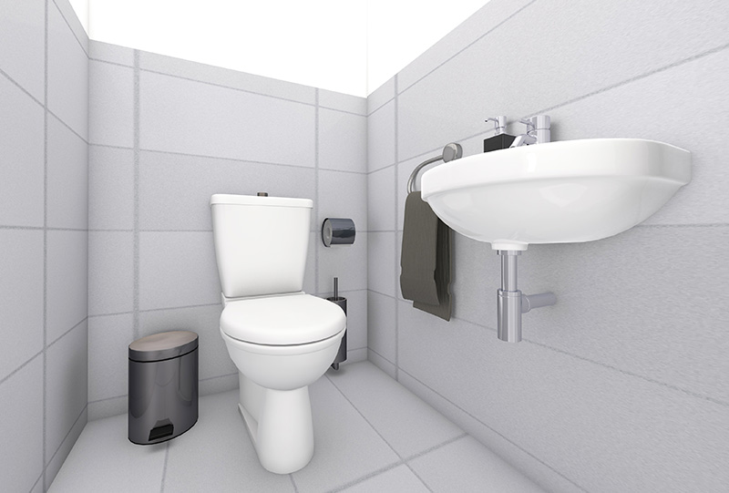 3D Innenraumvisualisierungen W-7 WC