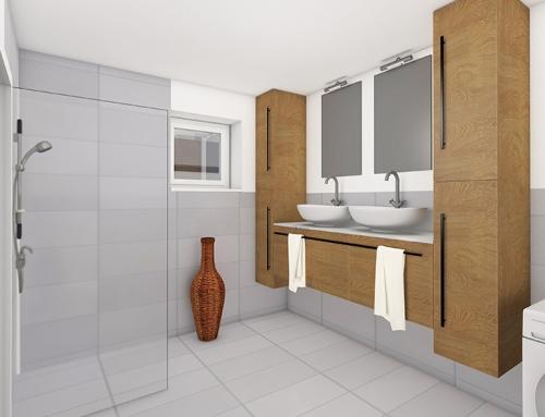 Innenraum visualisierung W-9 Badezimmer