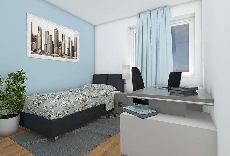 3D Innenraumvisualisierungen W-9 Kinderzimmer