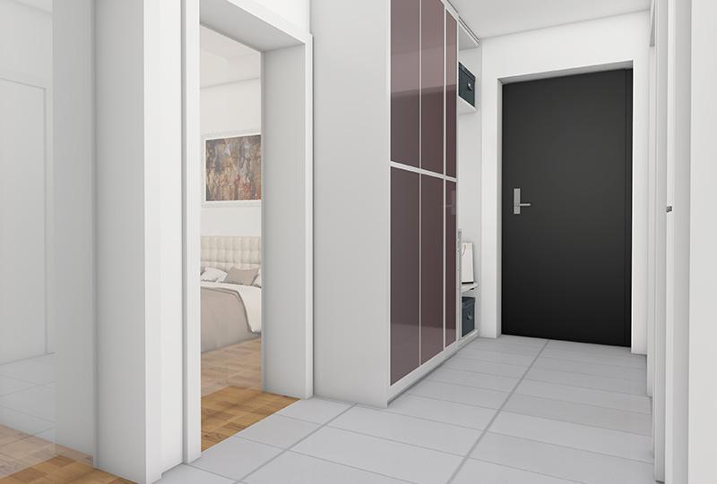 3D Innenraumvisualisierungen W-9 Vorraum