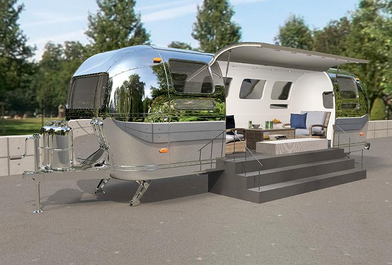 3D Produktvisualisierungen – Airstream Lounge