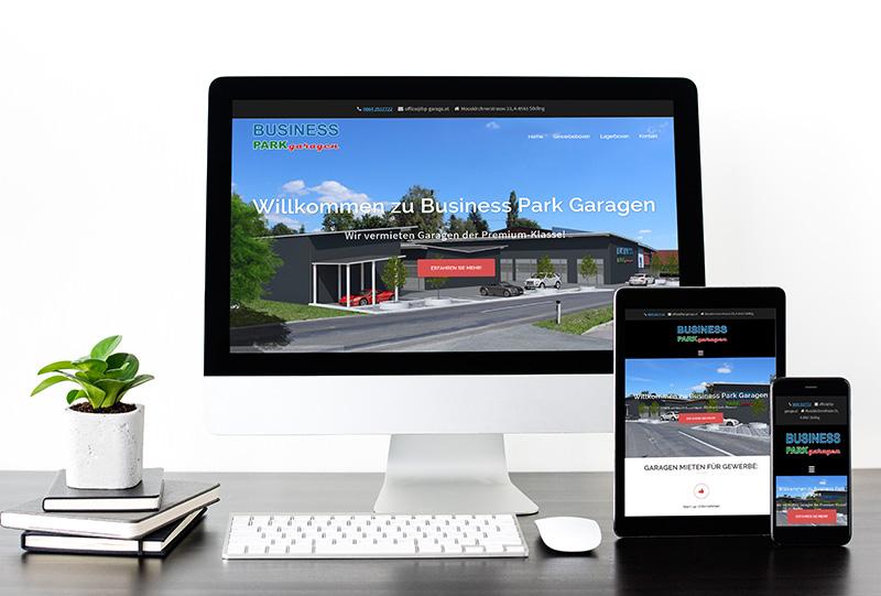 Web Design – Business Park Garagen