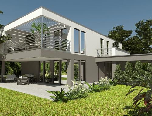 3D Architektur Visualisierungen Einfamilienhaus in Raaba
