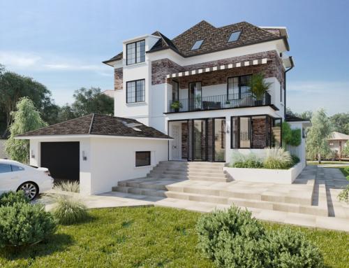 Architektur Visualisierungen Einfamilienhaus