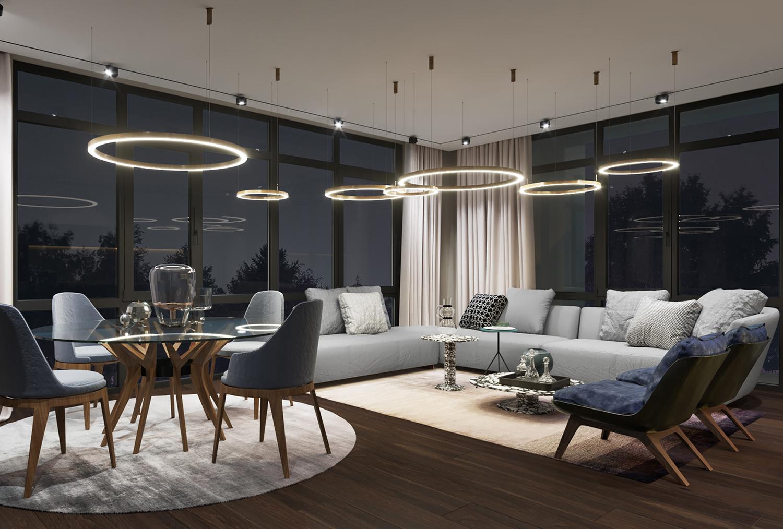 Innenraumvisualisierung Wohnzimmer Design  AB-Visualisierungen