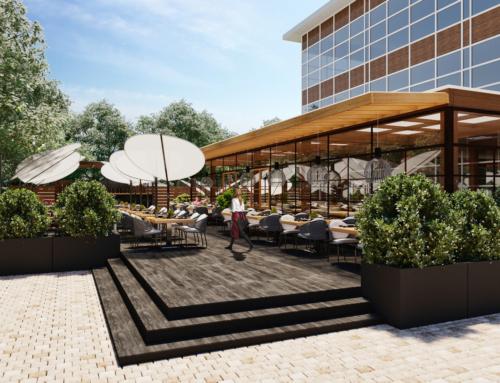 Terrassen Visualisierungen Restaurant